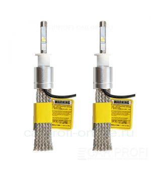 Светодиодные лампы CarProfi R3 H3 flexible cree-xhp50 premium series, (5500К)