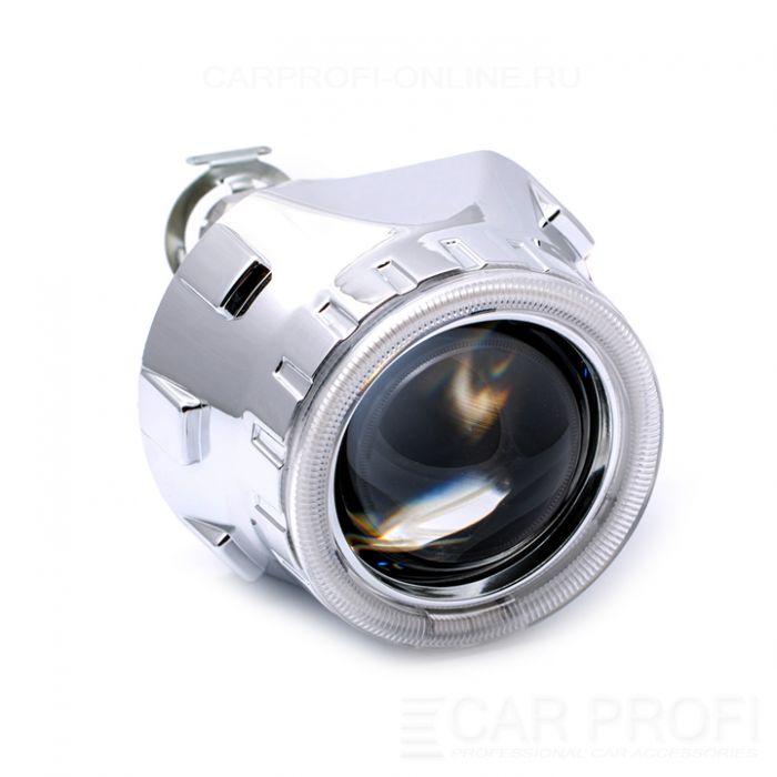 Би-ксеноновые линзы CarProfi Gunpoint H1, 2.5 дюйма, АГ CCFL (комплект 2 шт.)