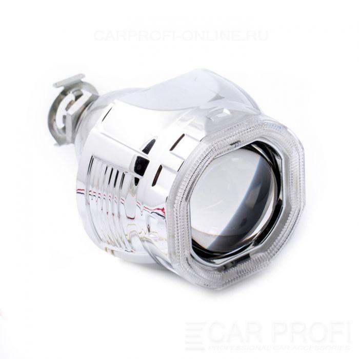 Би-ксеноновые линзы CarProfi Quad H1, 2.5 дюйма, АГ CCFL (комплект 2 шт.)