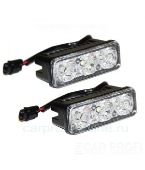 Дневные ходовые огни CarProfi N1 CP-911-3 Generic DRL Epistar, 1200Lm (3D отражатель + стробоскоп)