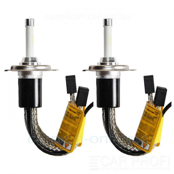 Светодиодные лампы CarProfi R4 H4 Flexible Z ES (TX chip), black premium series, (4800К)