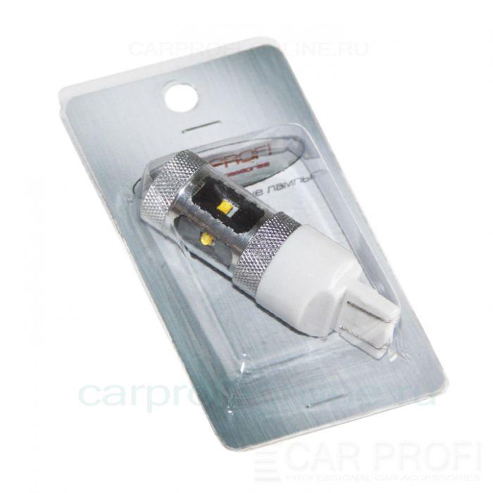 Светодиодная лампа CarProfi CP-T20 (W21/5W) 30W 6LED CREE XB-D 7443 - 2 контакта (5100K) 1 шт