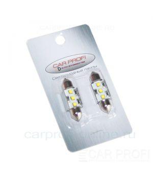 Светодиодная лампа CarProfi C5W 36mm, Festoon Canbus 3LED CREE 9W (5100K) к-т 2 шт.