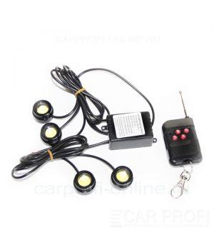Дневные ходовые огни, стробоскопы CarProfi CP-4HP (пульт д/у в комплекте)