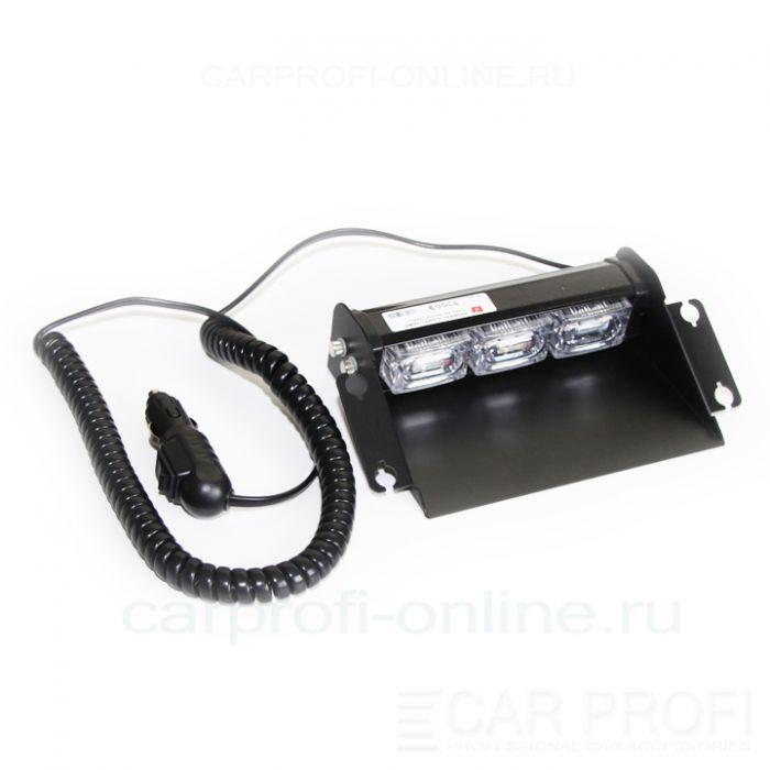 Дневные ходовые огни, стробоскопы CarProfi CP-816-3 Federal Signal, DRL Epistar (white), установка под стекло