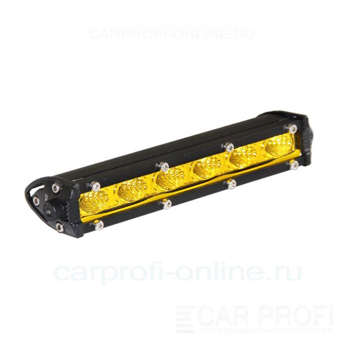 Светодиодная балка CarProfi CP-SL-GDN-18 Flood, Yellow, Slim light, 18W, CREE, ближний свет   отзывы