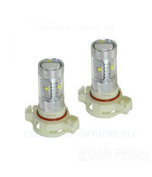 Светодиодная лампа CarProfi DRL CP H16 (EU), 6LED CREE XB-D 30W (5100K) блистер 2шт.