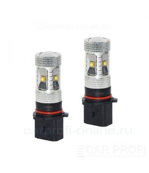Светодиодная лампа CarProfi DRL CP P13W 6LED CREE XB-D 30W (5100K) блистер 2шт.