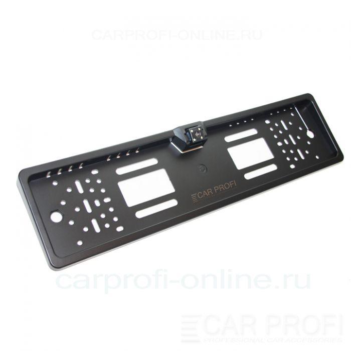 Камера заднего вида в рамке номерного знака CarProfi HX-EU08 LED HD (парковочные линии, LED подсветка)