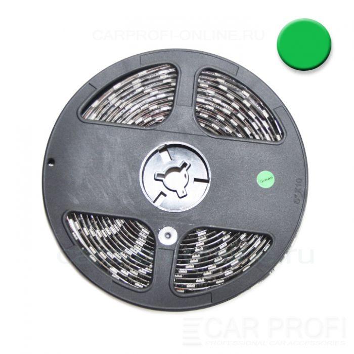 Светодиодная лента CarProfi SMD 5050 green, IP65, 60smd/m, влагозащищённая 12V (катушка 5м.)