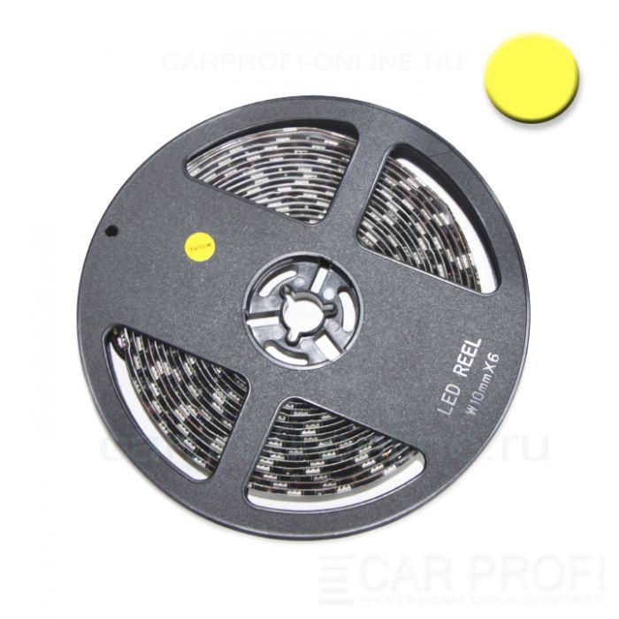 Светодиодная лента CarProfi SMD 5050 yellow, IP65, 60smd/m, влагозащищённая 12V (катушка 5м.)