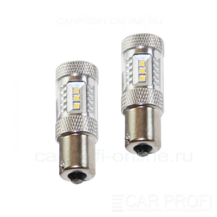 Светодиодная лампа CarProfi CP P21W 15W (BA15S, S25) SAMSUNG, 1156 - 1 контакт (4800K) 1 шт.