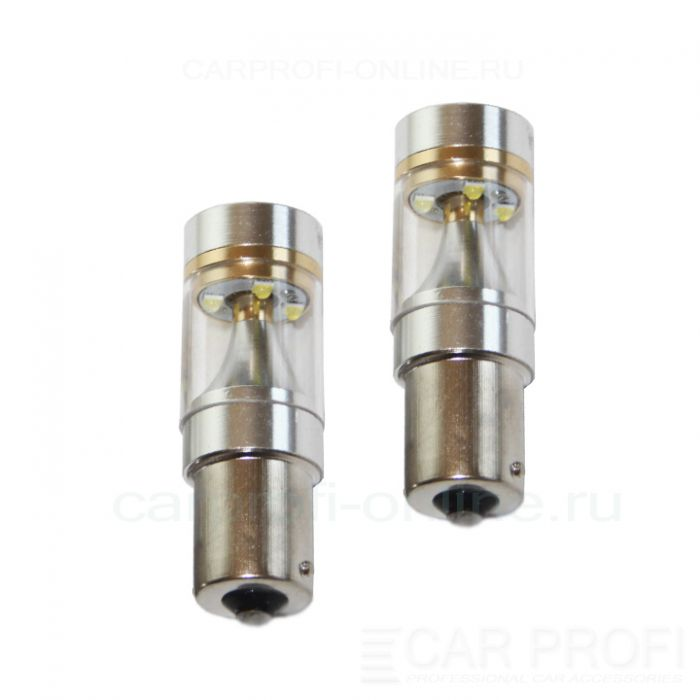 Светодиодная лампа CarProfi CP P21W-TL 30W (BA15S, S25) CREE, 1156 - 1 контакт (5100K) 1 шт.
