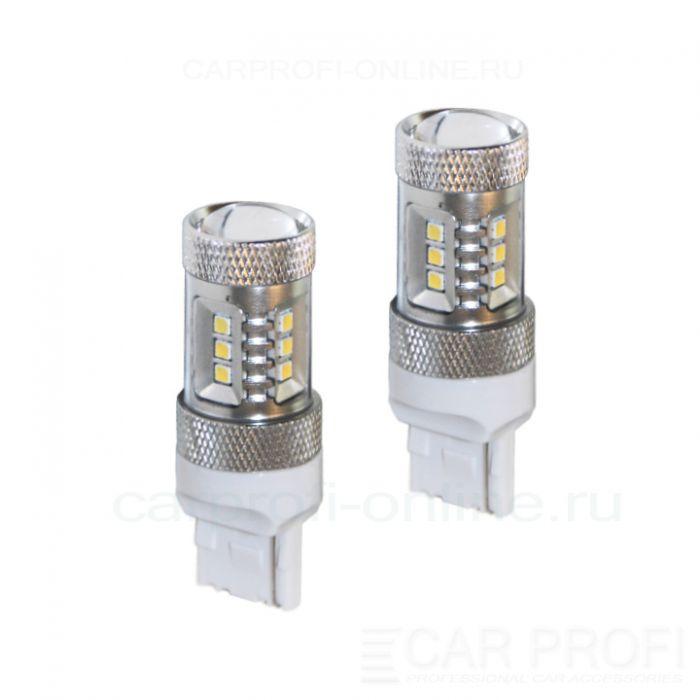 Светодиодная лампа CarProfi CP T20 / W21W 15W SAMSUNG, 7440 - 1 контакт (4800K) 1 шт.