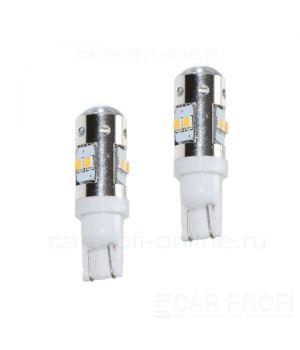 Светодиодная лампа CarProfi CP T10 (W5W) 8LED SMD2323 Samsung 8W (5000K) 2 шт.