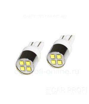 Светодиодная лампа CarProfi CP T10 (W5W) 4 LED Ceramic CREE XB-D 20W (5100K) 2 шт.