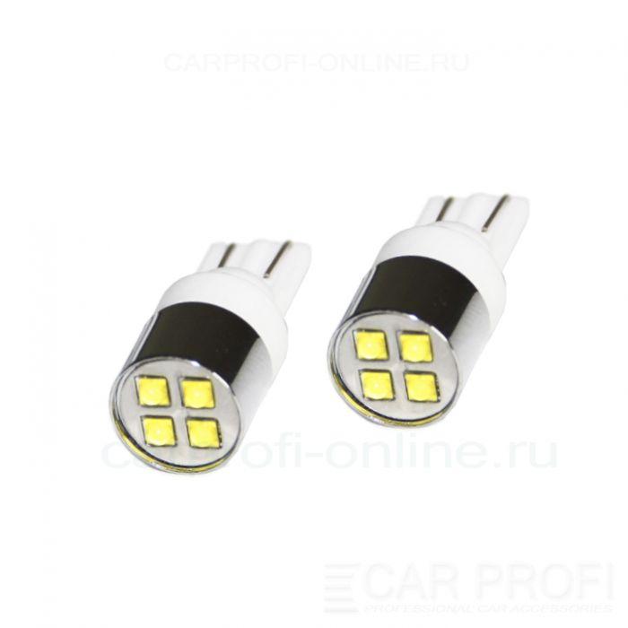 Светодиодная лампа CarProfi CP T10 20W Ceramic 4LED CREE XB-D (5100K) 2 шт.