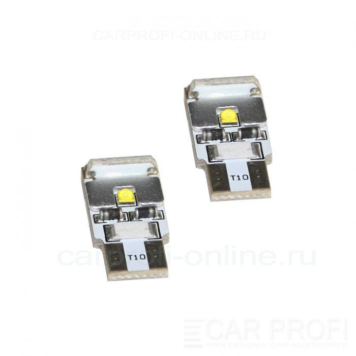 Светодиодная лампа CarProfi T10 9W CAN, 3LED CREE, (5100K) с обманкой CANBUS, блистер 2шт.