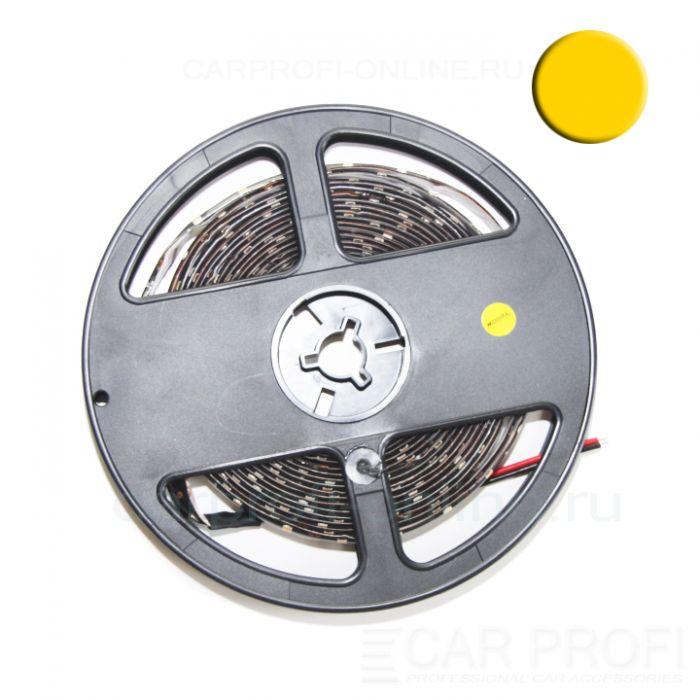Светодиодная лента CarProfi SMD 3528 yellow, IP65, 60smd/m, влагозащищённая 12V (катушка 5м.)