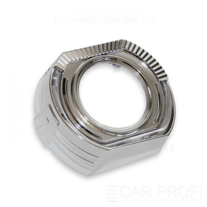 """Маска для би-линзы CarProfi СANNON-2 3.0"""" (Z145), АГ LED CREE, комплект 2шт"""