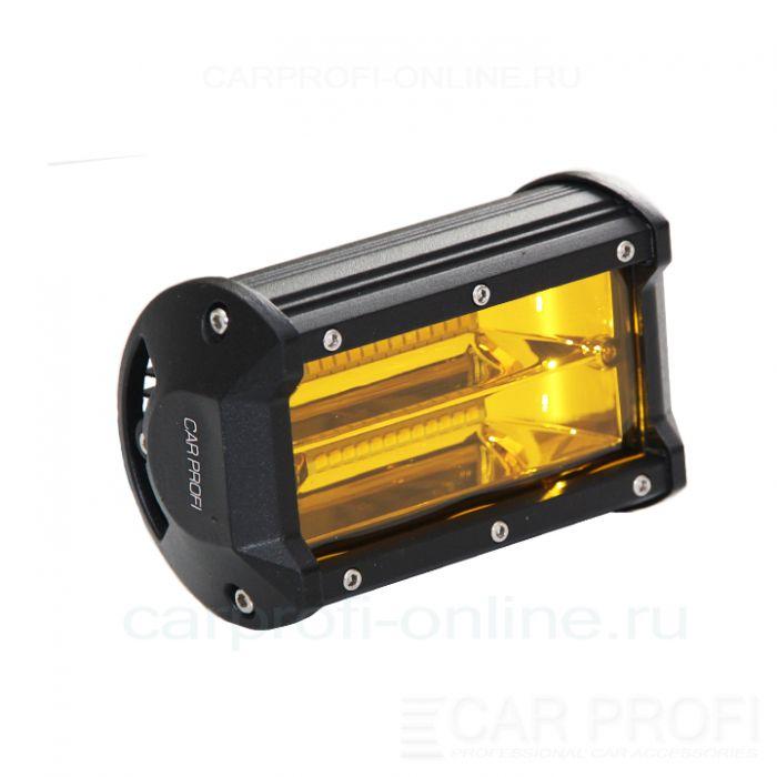 Светодиодная балка CarProfi CP-2R-GDN-72 Flood Yellow, 72W, SMD 3030, ближний свет, желтое свечение