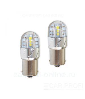Светодиодная лампа CarProfi CP P21W 6LED 18W (BA15S,S25) 3030, 1156 - 1 контакт (4800K) 1 шт.