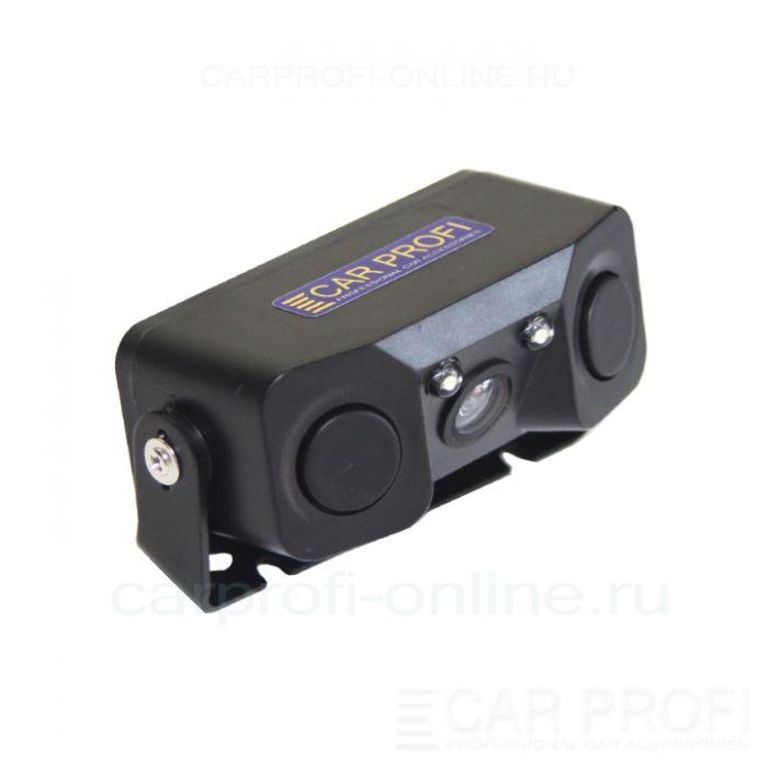 Парковочный радар CarProfi CP-RV01 + камера заднего вида (LED подсветка)