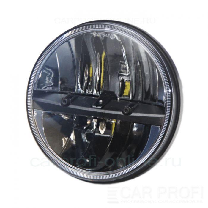 "Светодиодные фары CarProfi CP-LED-7""-30W-RR Black, CREE ETI 15W (к-т 2 шт)"