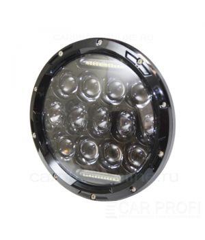 "Светодиодные фары CarProfi CP-LED-7""-75W-RL Black, CREE, DRL (к-т 2 шт)"