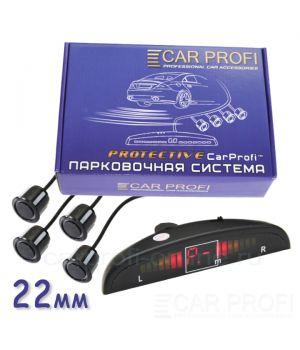 Парковочная система CarProfi CP-LED001-4S Protective D-22 мм (на 4 датчика)
