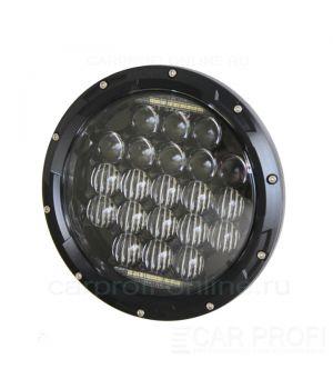 """Светодиодные фары CarProfi CP-LED-7""""-75W-5DL Black, CREE, DRL (к-т 2 шт)"""