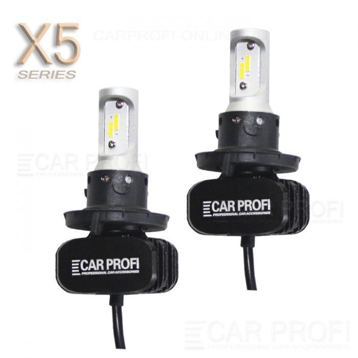 Светодиодные лампы CarProfi CP-X5 H13 Hi/Low CSP new 6000Lm (комплект, 2шт)