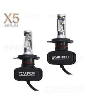 Светодиодные лампы CarProfi CP-X5 H4 Hi/Low CSP new 6000Lm (комплект, 2шт)