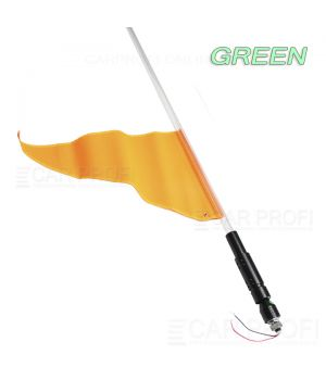 Светодиодный LED ФлагШток CarProfi CP-LX406 GREEN 4FT, 10W LED CREE (зелёное свечение)