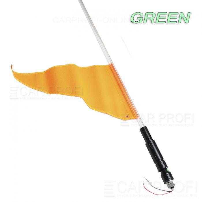Светодиодный LED ФлагШток 4FT CarProfi CP-LX406 GREEN, 10W LED CREE (зелёное свечение)