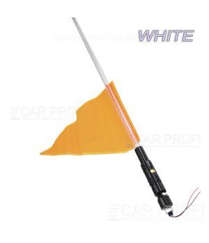 Светодиодный LED ФлагШток CarProfi CP-LX406 WHITE 4FT, 10W LED CREE (белое свечение)