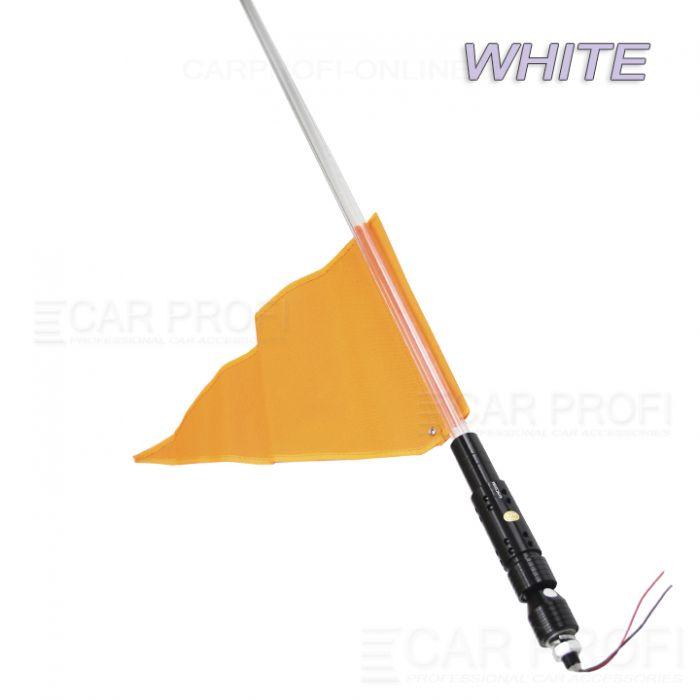 Светодиодный LED ФлагШток 4FT CarProfi CP-LX406 WHITE, 10W LED CREE (белое свечение)
