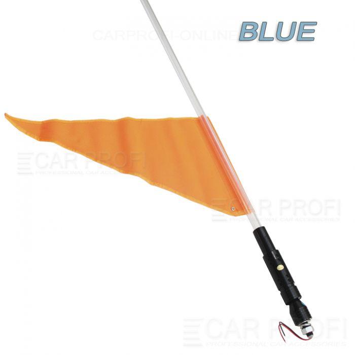 Светодиодный LED ФлагШток 4FT CarProfi CP-LX406 BLUE, 10W LED CREE (синие свечение)