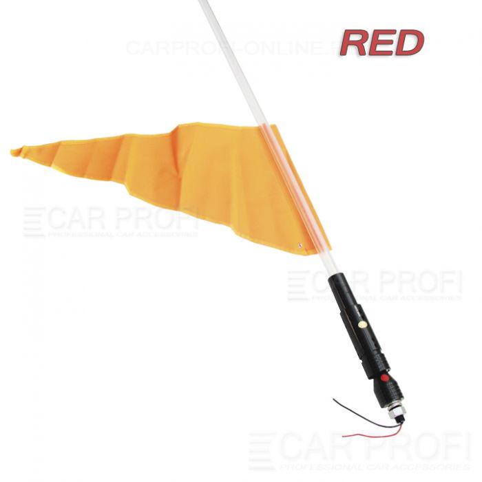 Светодиодный LED ФлагШток 4FT CarProfi CP-LX406 RED, 10W LED CREE (красное свечение)