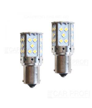 Светодиодная лампа CarProfi CP P21W 17,5W CANBUS (BA15S, S25) 35LED 3030, 1156 - 1 контакт (5100K), 1 шт.