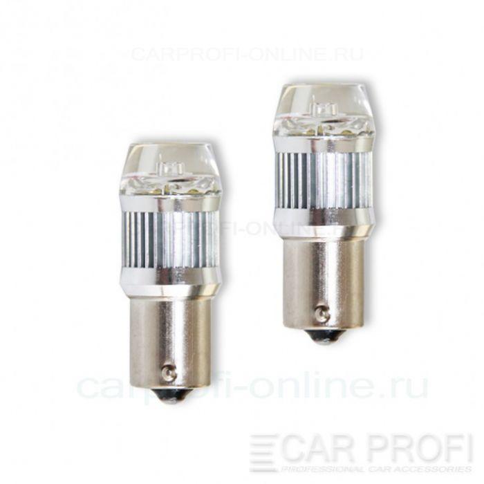 Светодиодная лампа CarProfi CP P21W-PRL 30W (BA15S,S25) CREE, 1156 - 1 контакт (5100K) 1 шт.