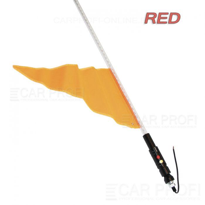 Светодиодный LED ФлагШток 5FT CarProfi CP-LX401 RED, 156 LED SMD 5050  (красное свечение)