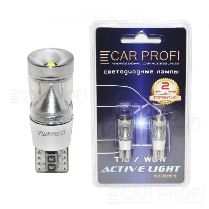 Светодиодная лампа CarProfi T10 9W CREE Active Light series, с обманкой CAN BUS, 160lm (блистер 2 шт.)