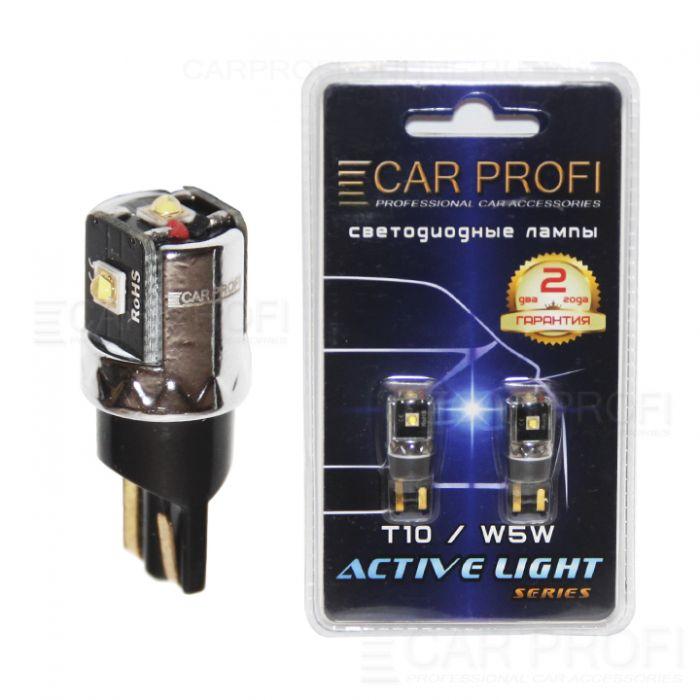 Светодиодная лампа CarProfi T10 9W OSRAM CHIP Active Light series, с обманкой CAN BUS, 250lm (блистер 2 шт.)