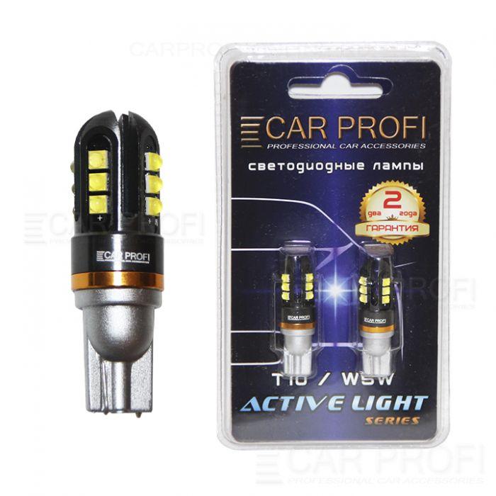 Светодиодная лампа CarProfi T10 36W CREE Active Light series, 900lm (блистер 2 шт.)