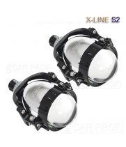 Светодиодные би-линзы CarProfi Bi LED Lens X-line S2, 3.0 дюйма, 5100k (к-т 2 шт.)