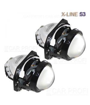 Светодиодные би-линзы CarProfi Bi LED Lens X-line S3, 3.0 дюйма, 5100k (к-т 2 шт.)