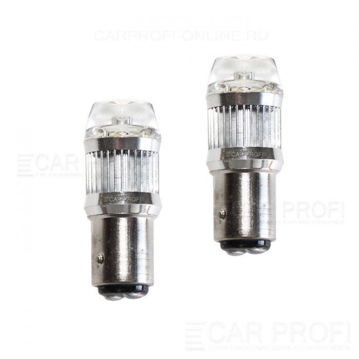 Светодиодная лампа CarProfi CP P21/5W-PRL 30W (BA15S,S25) CREE, 1157 - 2 контакта (5100K) 1 шт.