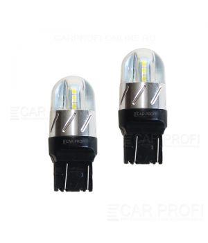 Светодиодная лампа CarProfi CP W21/5W 18W (T20 / W21W) 6LED 3030, 7443 - 2 контакта (5100K) 1 шт.