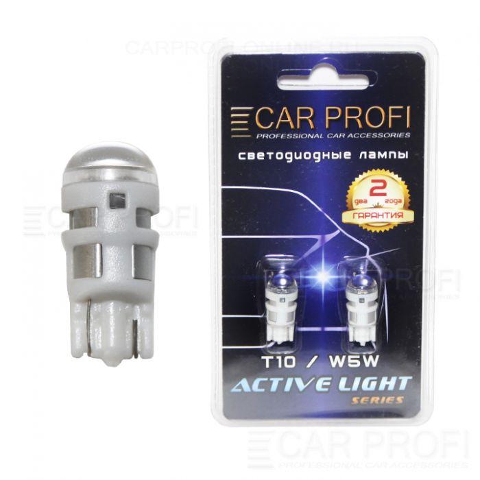 Светодиодная лампа CarProfi T10 3W CREE-C Active Light series, 77lm (блистер 2 шт.)